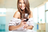 Wine for a beauty — Stock Photo