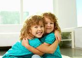 Twin hug — Stock Photo
