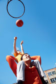 Basketball-Spiel — Stockfoto