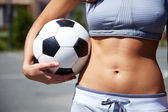 Female with ball — Stock Photo