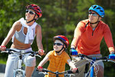 Riding on bicycles — Stock Photo
