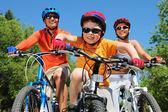 Jovem ciclista — Foto Stock