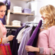 Stock Photo: Choosing clothes
