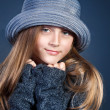 Beautiful girl in winter theme — Stockfoto