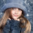 Beautiful girl in winter theme — Stock Photo