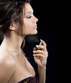 Engojing perfume — Stock Photo