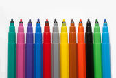 A row of felt-tip pens — Stock Photo