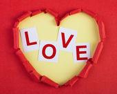 Kalbi sevgi ile — Stok fotoğraf