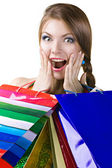 Surprise during shopping — Stock Photo