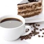 Cake and coffee — Stock Photo