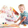 Royalty-Free Stock Photo: Beauty little boy is drawing