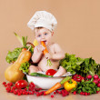 Child and vegetables - Stock Photo