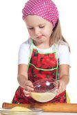 Girl prepare meal — Stock Photo