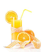Dietetic orange juice — Stock Photo