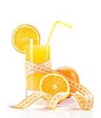 Dietetic orange juice — Stock Photo