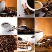 Káva koláž — Stock fotografie