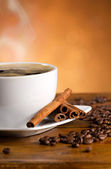 Espresso with cinnamon — Stock Photo