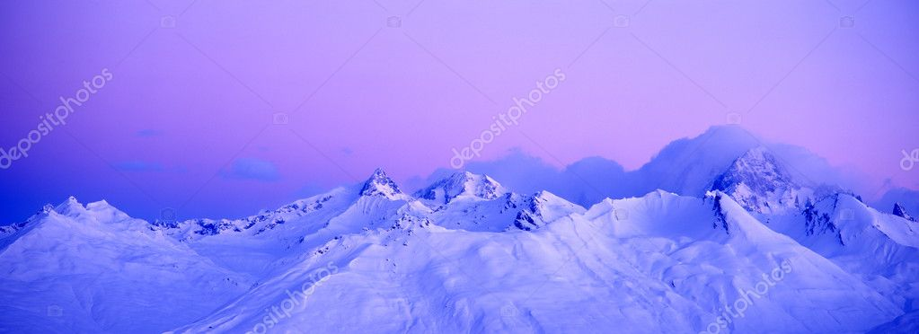 Winter sunrise over the alps — Stock Photo #10842851