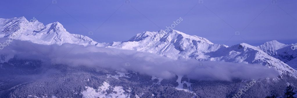 Winter sunrise over the alps — Stock Photo #10842853