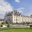 Castle and garden of Chenonceau - Stock Photo