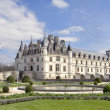 Stock Photo: Castle and garden of Chenonceau