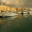 Port of Nice after the storm - Stock Photo