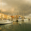 Port of Nice after the storm — Stock Photo