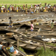Market of Ganvie in Benin - Foto Stock