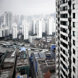 Shanghai aerial view - Stock Photo