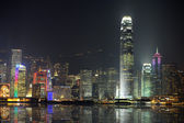 Night scene of Hong Kong, you can see the pollution — Stock Photo