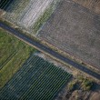 Aerial view of empty road and fields — Stock Photo #10881016