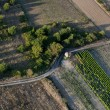 Aerial view of empty road and fields — Stock Photo #10881021