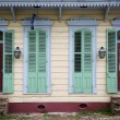 Front of house in New Orleans, Louisiana — 图库照片