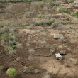 Aerial view of a Tanzanian house, Africa - Foto Stock