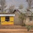 Yellow wooden gift shop, Tanzania, Africa — Stock Photo