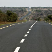 Empty road, Tanzania, Africa — Stock Photo