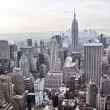 vista sullo skyline di New york city dal rockefeller center, new york, usa — Foto Stock