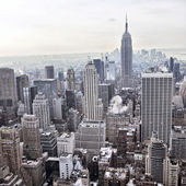 New York City skyline view from Rockefeller Center, New York, USA — 图库照片