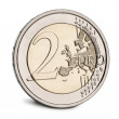 2 Euro Coin in front of white background — Stock Photo