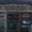 Close-up of old cockpit control panel of airplane — Stock Photo #10902632