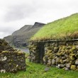 Stock Photo: Old stone house in Faroe Islands