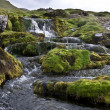 Waterfall on Faroe Islands - Stock Photo