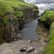 Stock Photo: Small port in Faroe Islands