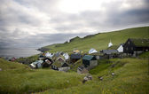 Houses in the village of the Island Mykines, Faroe Islands — Stock Photo