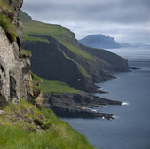 Scenic view of Mykines, Faroe Islands — Stock Photo