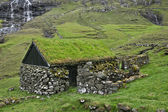 Old stone house in Faroe Islands — Stock Photo
