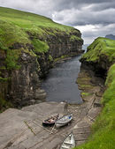 Small port in Faroe Islands — Stock Photo