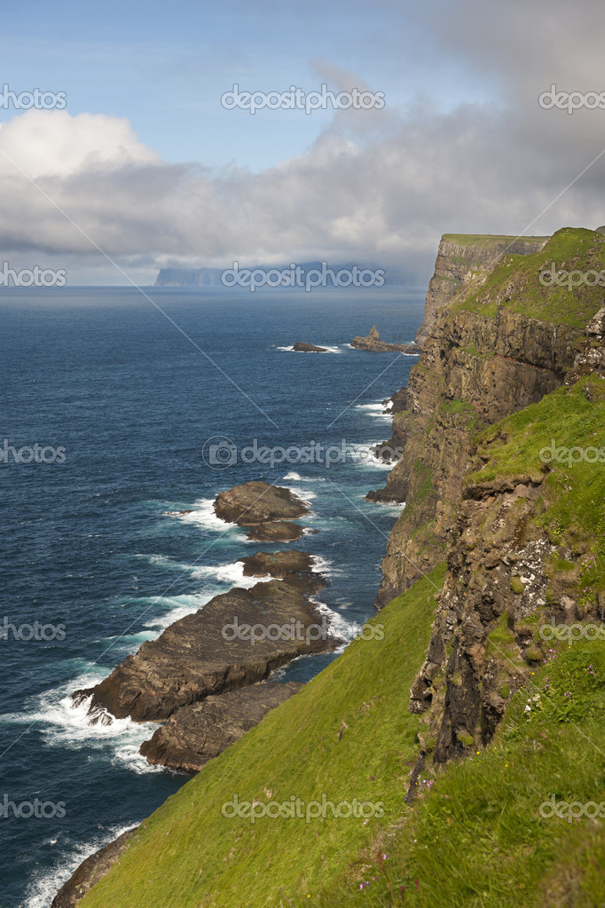 Scenic view of coast of Mykines, Faroe Islands  Stock Photo #10903807