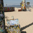 Art walls on Venice beach, Los Angeles, California, USA — Stock Photo