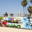 Art walls on Venice beach, Los Angeles, California, USA — Stock Photo #11718652